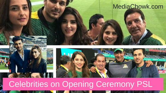 Celebrities Opening Ceremony of PSL2018 in Dubai.