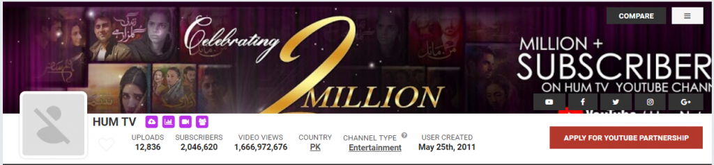 Hum TV YouTube channel terminated