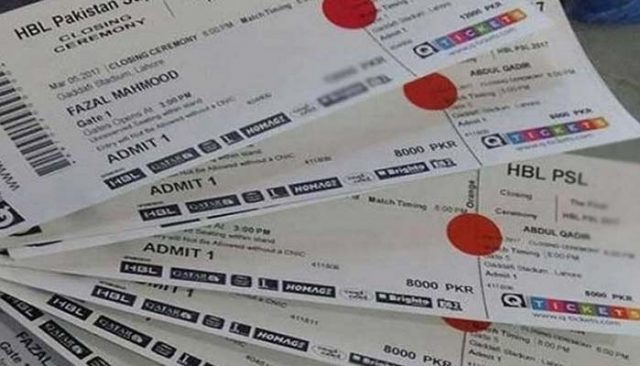 PSL 2018 final match tickets