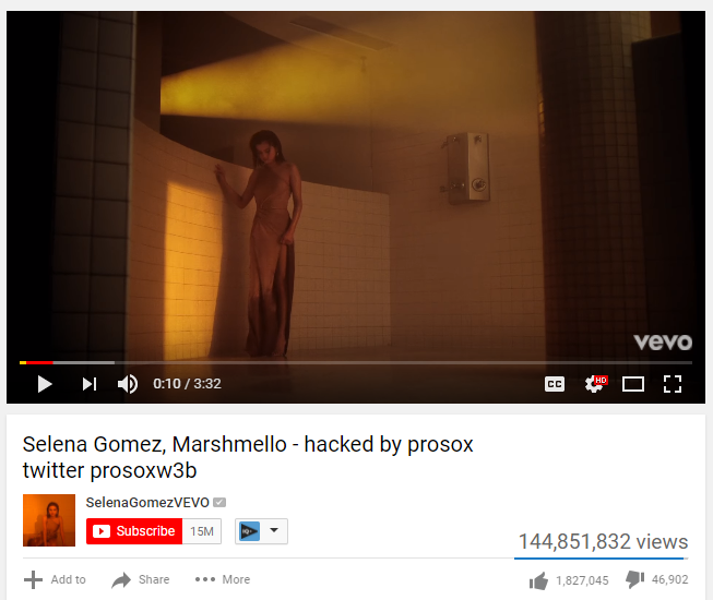 SelenaGomezVEVO Youtube Channel Hacked