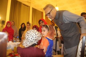 Arif Alvi, the President of Pakistan hosts an iftar for orphans, attended by Chairman Khubaib Foundation and the CEO of Tecno Mobile 3