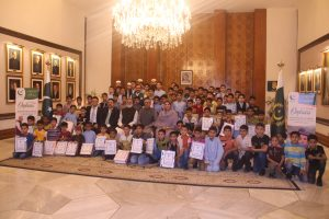 Arif Alvi, the President of Pakistan hosts an iftar for orphans, attended by Chairman Khubaib Foundation and the CEO of Tecno Mobile 1