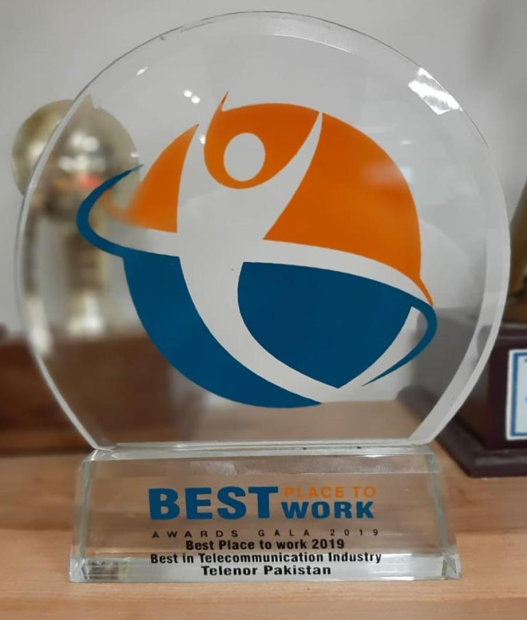 Telenor Pakistan Wins PSHRM's 'Best Place to Work in Telecom' Award 2019 2
