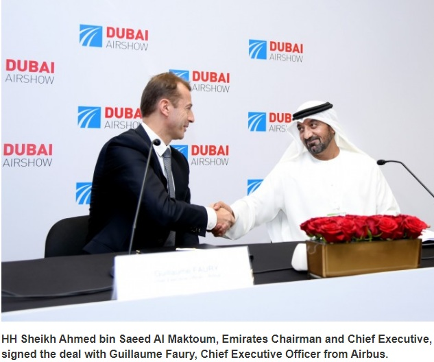 Emirates Chairman and Chief Executive signed deal