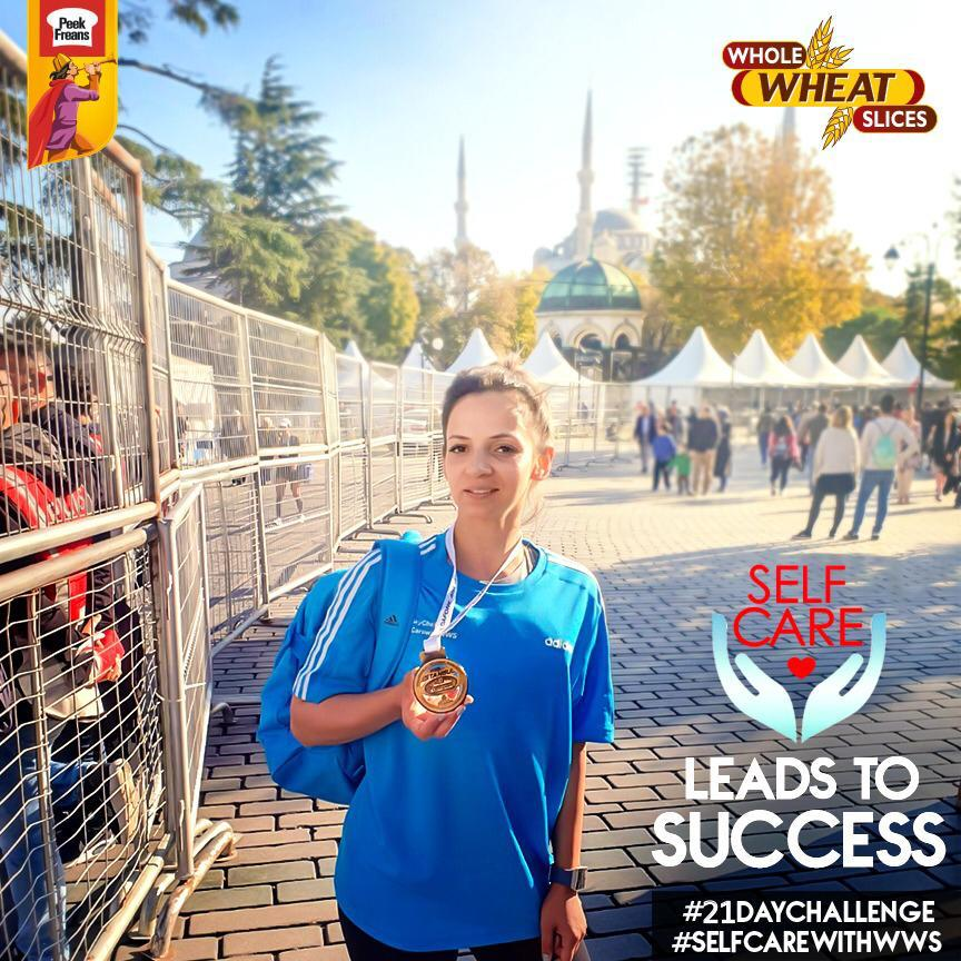 Peek Freans Whole Wheat Slices Self-Care Ambassador Sehr Beg Participated in the 42K Istanbul Marathon 1