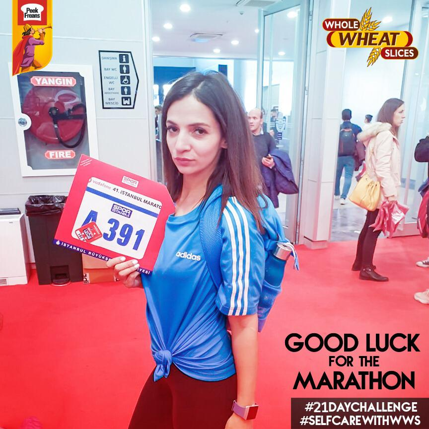 Peek Freans Whole Wheat Slices Self-Care Ambassador Sehr Beg Participated in the 42K Istanbul Marathon 2