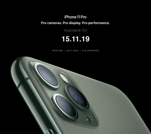 iPhone 11 and iPhone 11 Pro open today for pre-booking in Pakistan